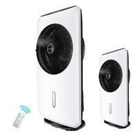 Household Spray Fan Vertical Humidification Fan Variable Frequency Atomizing Remote Control 8 Gears Timing Cooling Fan