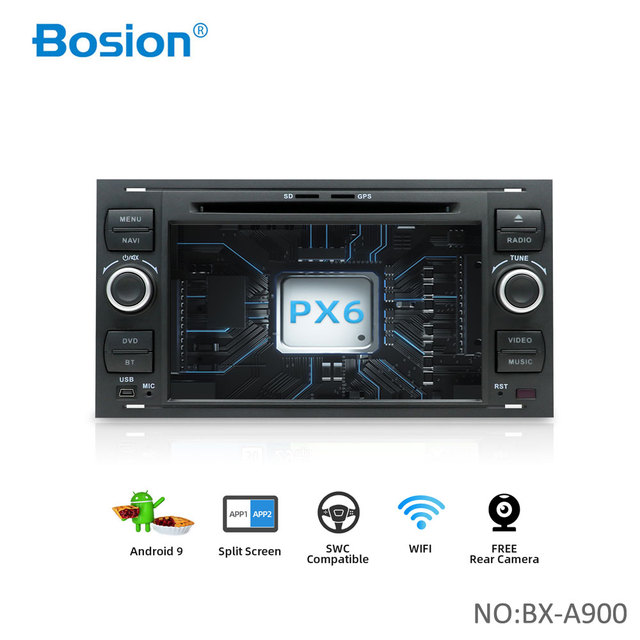 Bosion 2 din Android 10 차량용 GPS For Ford Mondeo S max Focus C MAX Galaxy Fiesta transit Fusion 연결 kuga DVD 플레이어 4GB 64GB
