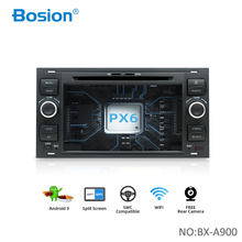 Bosion 2 din android 9.0 gps do carro para ford mondeo s-max foco C-MAX galaxy fiesta transit fusão conectar kuga dvd player 4 gb 64 gb(China)
