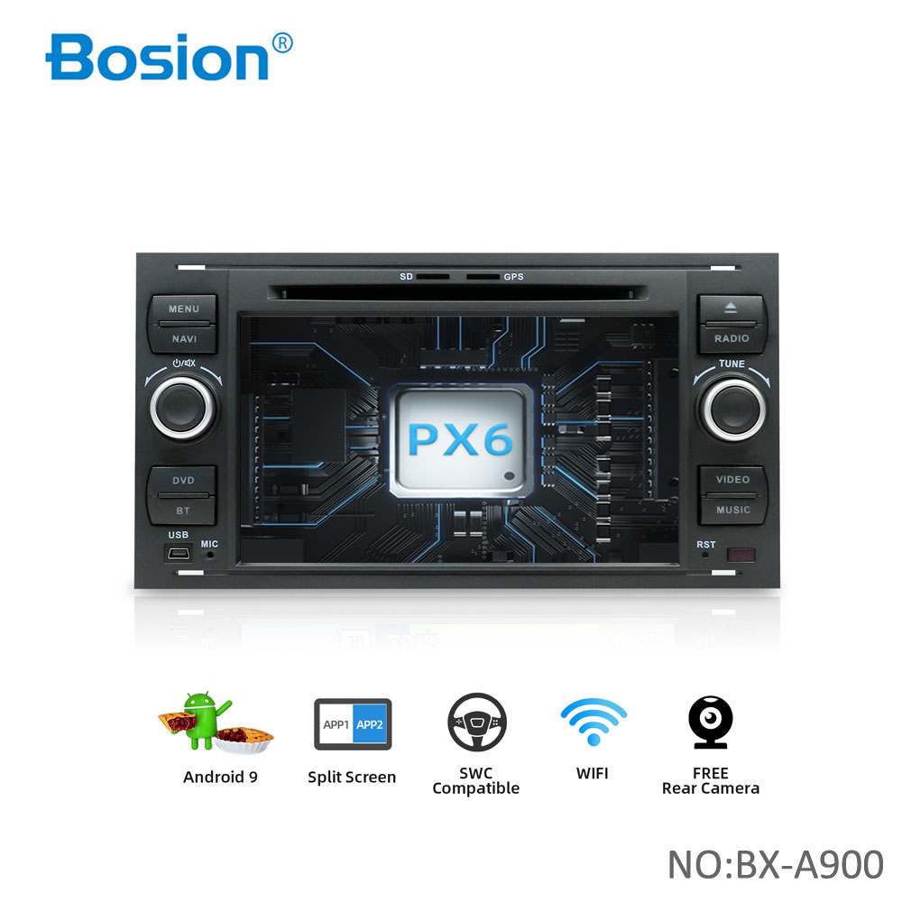 Bosion 2 din Android 10 Автомобильный GPS для Ford Mondeo S-max Focus C-MAX Galaxy Fiesta transit Fusion Connect kuga dvd-плеер 4 Гб 64 ГБ