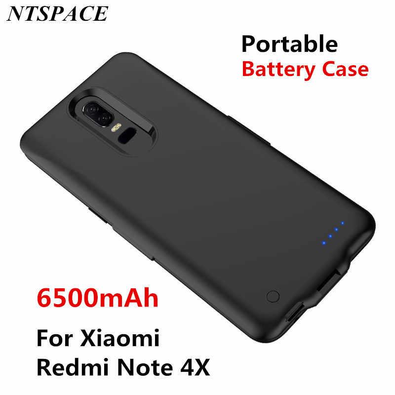 Di động Công Suất Ngân Hàng Bao da Cho Xiaomi Redmi Note 4X Dự Phòng Sạc Điện Thoại Ốp Lưng 6500mAh Pin Ngoài Sạc Ốp Lưng