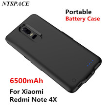 Portable Power Bank cover For Xiaomi Redmi Note 4X Backup Phone Charging Case 6500mAh External Battery Power Charger Case