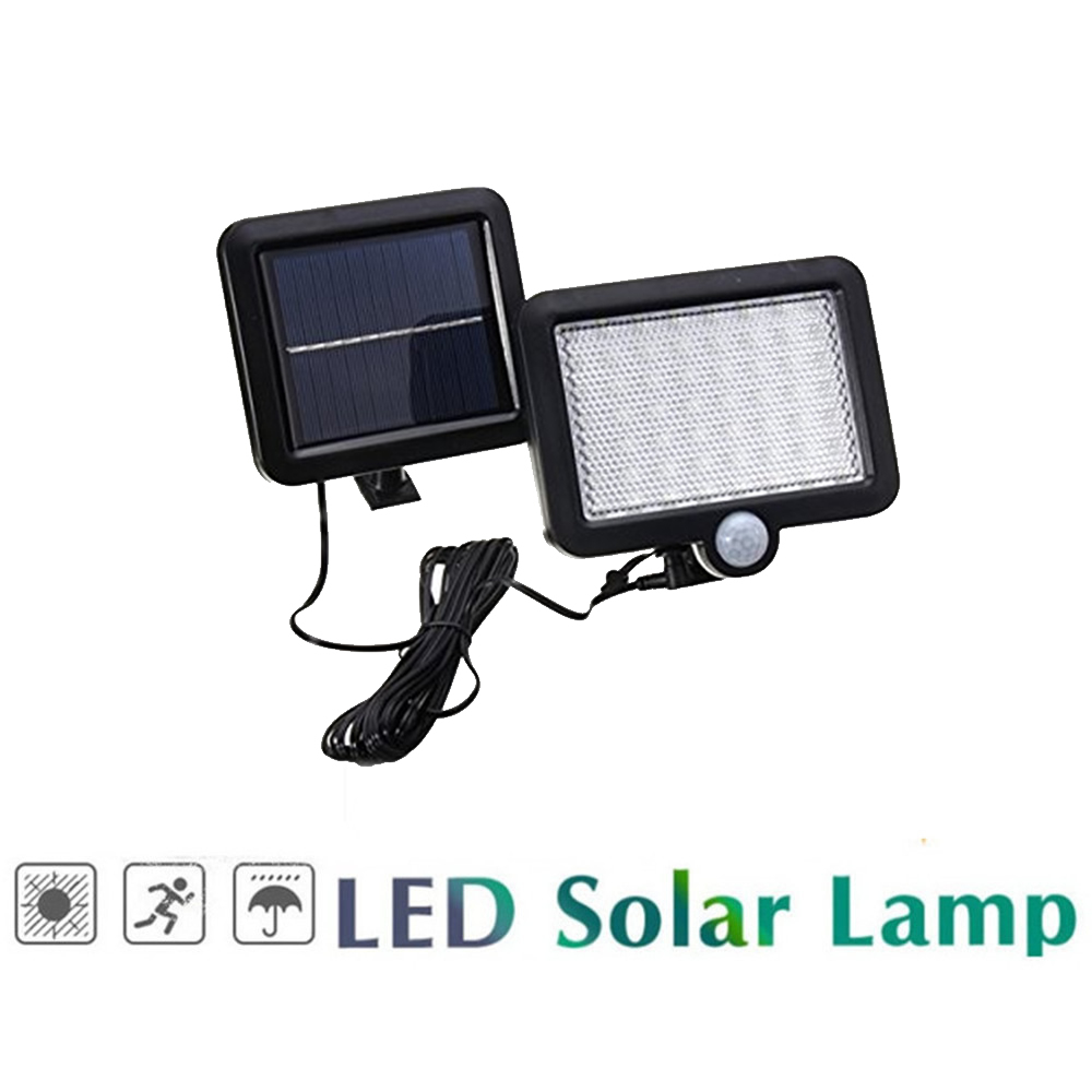Wireless PIR Motion Sensor LED Solar Light Rechargeable Solar Wall Lamp Outdoor Garden Yard Security Lighting Night Decoration S