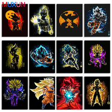 Diy Diamond Painting Full Square/Round Drill Cross Stitch Goku Dragon Ball Super Hot Fighting Japan Anime Mosaic Decor Gift Art