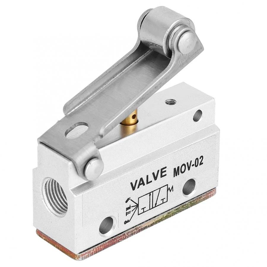 8 Neum/ático Rosca Neum/ática Palanca de Rodillo V/álvula Mec/ánica V/álvulas de Control Manual 0-0.8MPa MOV-02 G1