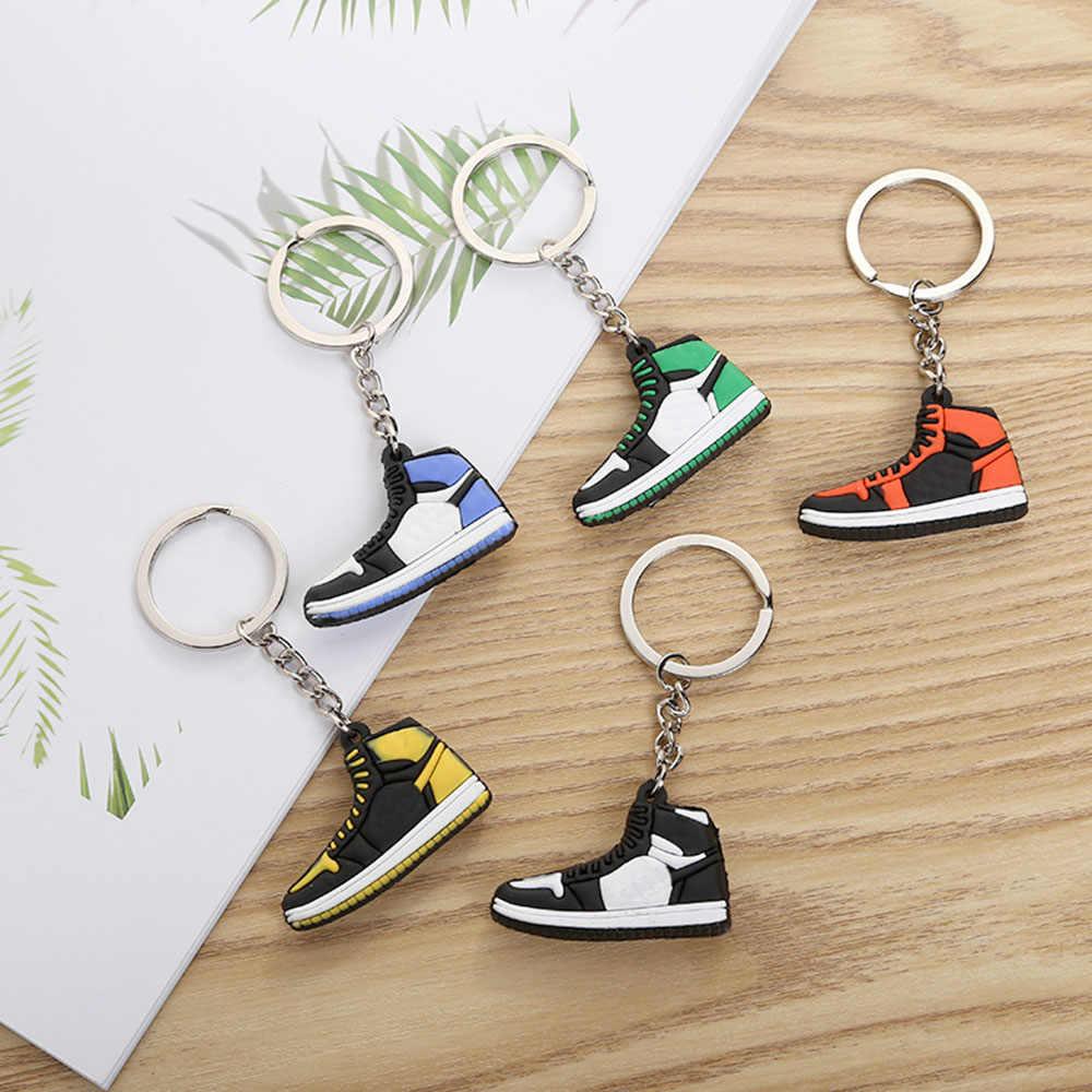 Mini Portachiavi PVC Scarpe Delle Donne Degli Uomini Chiave Anello di Colore Classico Generazione di scarpe Da Basket Scarpe Da Tennis Catena Chiave