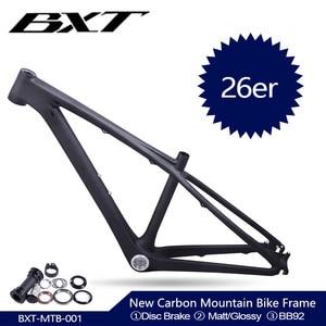 Image 1 - 2020 new BXT Chinese carbon frames 14inch 26 carbon mountain bike frameset super light kids carbon mtb frame 26er  bicycle frame