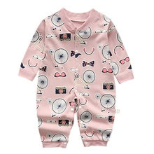 Autumn Newborn Infant Rompers Baby Boy Girl Casual Floral Print Outfits Cotton Romper Jumpsuit Clothes Clothing 3-12M
