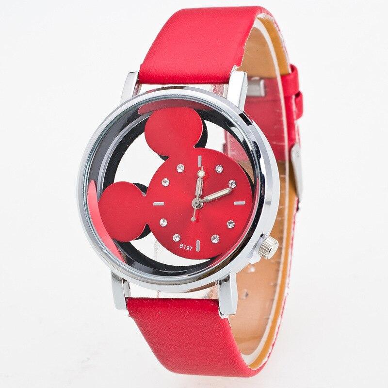 Reloj Children Watches For Girls Cartoon Leather Student Girl Watch Cute Quartz Watch Birthday Gift Montre Enfant