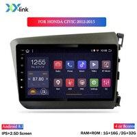 Android 8.1 car dvd gps multimedia player 9 INCH For Honda CIVIC 2012 2015 RHD car dvd navigation radio video audio player