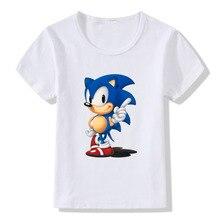 Summer Boys Girls Tops Print Cartoon Hedgehog Childrens T-shirts Modal Polyester Comfortable Baby Short-sleeved T Shirt O-Neck