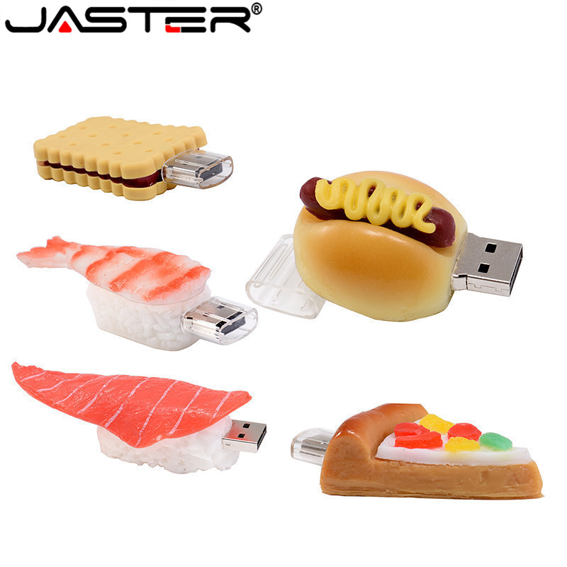 JASTER Pen Drive 4GB 8GB 16GB 32GB 64GB Usb French ,Pizza,Sushi,Shape USB Flash USB2.0 Flash Drive Pendrive Thumb