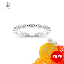 GEMS BALLET 0.008Ct Moissanite Ring EF color Eternity Band 925 Sterling Silver Wedding Band For Women Fine Jewelry