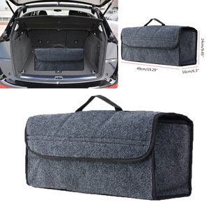 Image 1 - 1pc Car Trunk Organizer Storage Box Bag Foldable Soft Felt Auto Car Boot Organizer Travel Tools Stowing Tidying Container Box