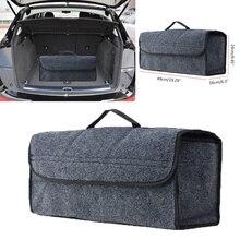 1pc organizator bagażnika samochodowego torba do przechowywania składany miękki filc Auto bagażnika samochodu organizator podróży narzędzia schowek Tidying pojemnik Box