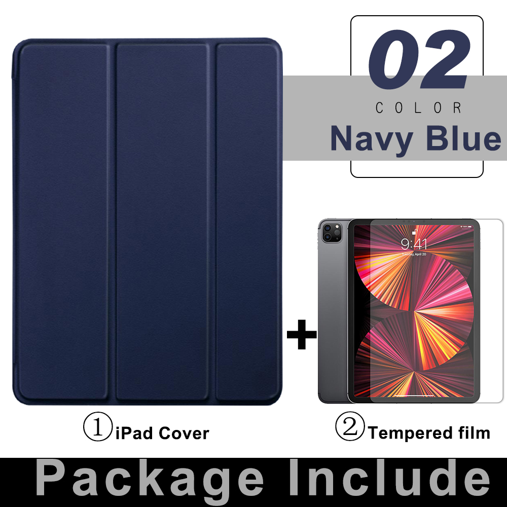2 Navy Blue Purple For iPad Pro 11 Flip Tablet Case 2021 Stand Smart Cover Funda For iPad pro 11