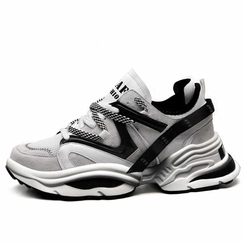 Vintage baba erkek ayakkabısı 2020 Kanye moda batı örgü hafif nefes erkekler rahat ayakkabılar Tenis tıknaz Sneakers Zapatos Hombre #700