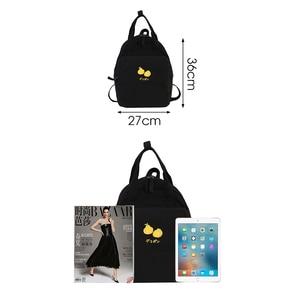 Image 3 - Fashion Avocado Fruit Embroidery Women Backpack Shoulder Bag Waterproof Nylon Bagpack Casual Schoolbag for Teens female backpack