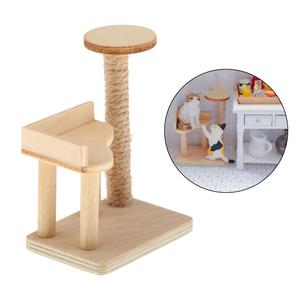 1:12 Scale Dollhouse Mini Modern Cat Tree Scratching Post Tower Miniatures Furniture Model Decoration for Doll House DIY