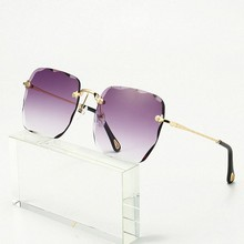 New Frameless Trimmed Ladies Sunglasses Gradient Color Womens Rays