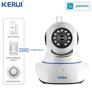 Image 5 - KERUI W18 WIFI GSM SMS Home Burglar Security Alarm System Curtain Motion Sensor Wireless Solar Siren IP Camera GSM Alarm System