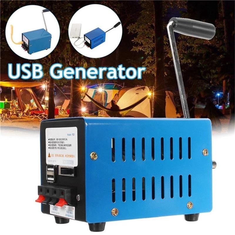 Chargeur de Dynamo Portable haute puissance manivelle de secours générateur USB générateur de puissance générateur de vent Turbinen