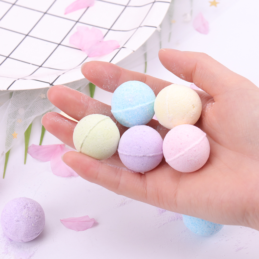 Organic Bath Salt Body Essential Oil Bath Ball Body Skin Whitening Ease Relax Stress Relief Natural Bubble Bath Bombs Ball 1PC