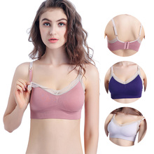 ZTOV  Maternity Nursing Bra Breastfeeding for Feeding Pregnancy Clothes Wire Free Underwear Moms