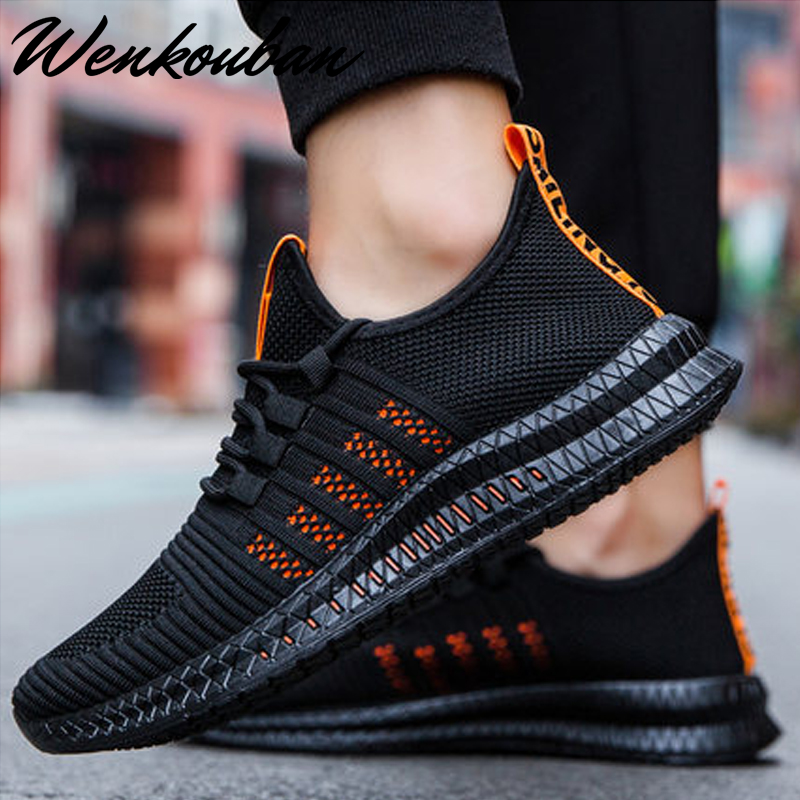 Mesh Men Sneakers Casual Shoes Lac-up Men Shoes Lightweight Vulcanized Shoes Breathable Walking Sneakers Tenis Masculino Adulto