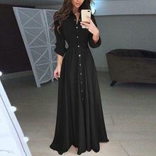 Robe Formal-Dress Celmia Long-Sleeve Ruffles Plus-Size Shirt Maxi Vestidos Elegant Casual