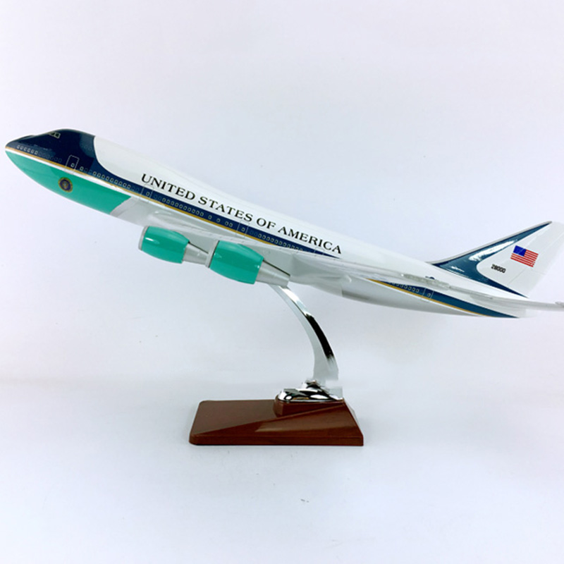 47cm Us Air Force One Aircraft 1 150 Airplane Boeing B747 200