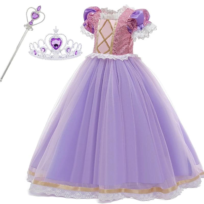 kiz elbise sophia rapunzel prenses elsa elbise kiz cocuklar icin zarif dogum gunu partisi cosplay elbise cocuk giyim 8 10 yil