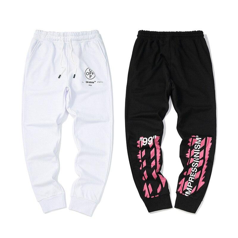 Popular Brand Off-white C /O Virgil Abloh Ow 19ss Pink Arrowhead Sweatpants Athletic Pants Men's