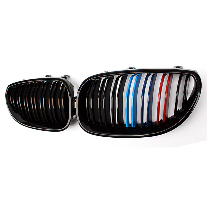 2c Car Kidney <font><b>Grill</b></font> Racing Grille Double Line For BMW 5 Series E60 E61 F10 F18 <font><b>G30</b></font> G38 520i 525i 528i Front <font><b>Grills</b></font> Accessories image