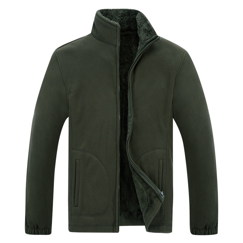 Winter Jacket Coats Warm Male XL Army-Green Windbreaker Black Fleece Soft-Shell Plus-Size