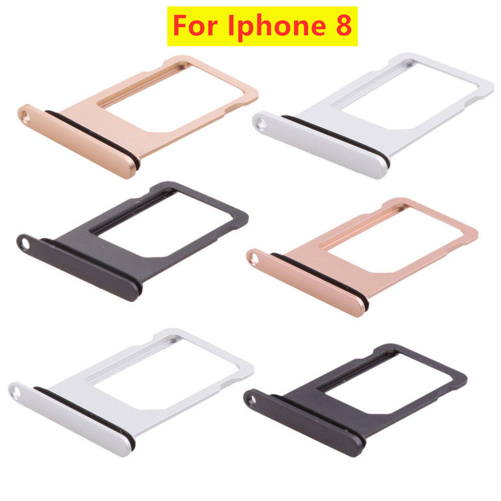 For Iphone 8 Plus X SIM Holder Slot Tray Container Adapter Eject Tools Mobile Phone Accessories For Iphone 8 SIM Card  Holder