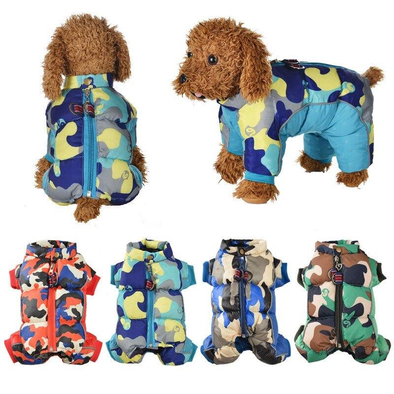 Vêtements en coton rembourré pour animaux de compagnie imperméables pour automne et hiver combinaison chaude pour chiens