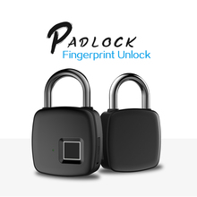 Rechargeable Smart Lock Keyless Fingerprint Lock IP54 Waterproof Anti-Theft Security Padlock Door Luggage Lock FLP30