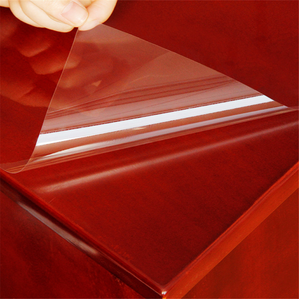 4MIL Transparent Protective Film 3mx30/40/50cm Furniture Waterproof Self Adhesive Wall Paper Transparent Soft Tablecloth Pad