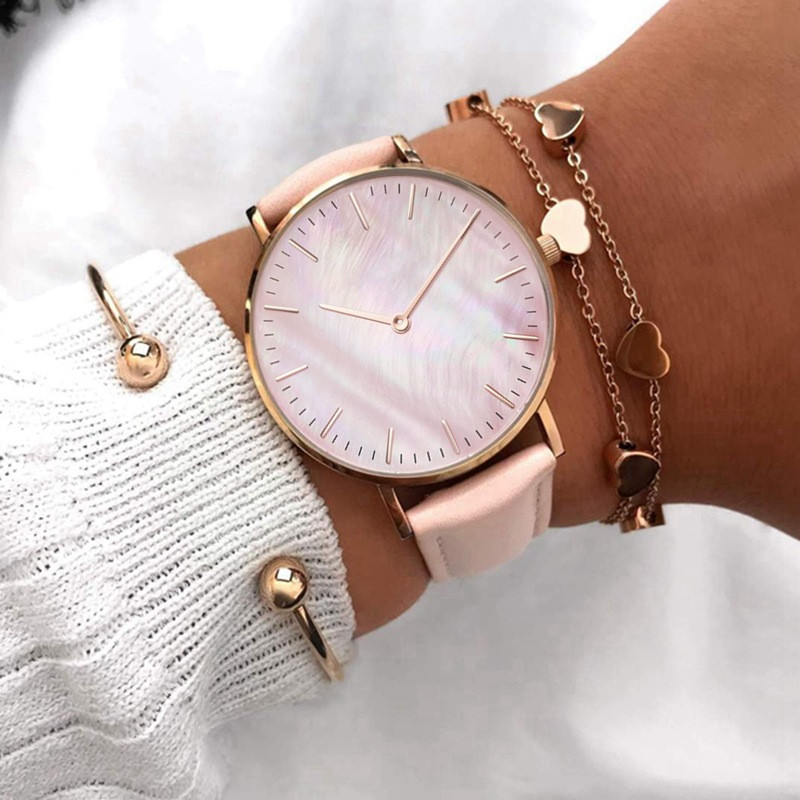 2020 Women Watches Top Brand Luxury Quartz Watch Leather Strap Fashion Wristwatch For Women Clock Ladies Hodinky Reloj Mujer