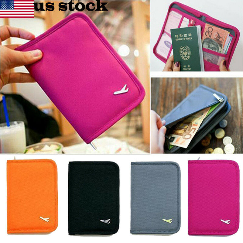 Air Ticket Passport With Leather Travel Passport Wallet Multifunctional Document Storage Bag Protective Cover