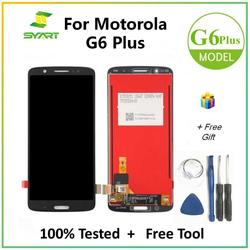 For Motorola G6 Plus LCD Display With Touch Screen Digitizer Assembly + Free Tools For Moto G6Plus XT1926 5.93 Inch LCDs Screen