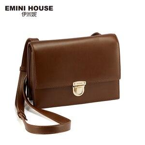 Image 3 - EMINI HAUS Vorhängeschloss Umhängetaschen Für Frauen Luxus Handtaschen Frauen Taschen Designer Split Leder Frauen Umhängetasche Damen Geldbörse