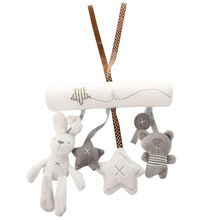 Bunny Rabbit or Dog Soft Toy Baby Nursery Cot Musical Lullaby Mobile