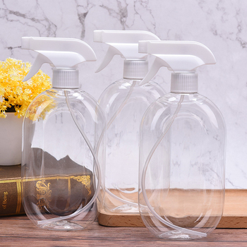 500ml Empty Portable Travel Pump Soap Dispenser Transparent Spray Bottle Plastic Hand Pressure Spray Kettle Sprayer Bathroom