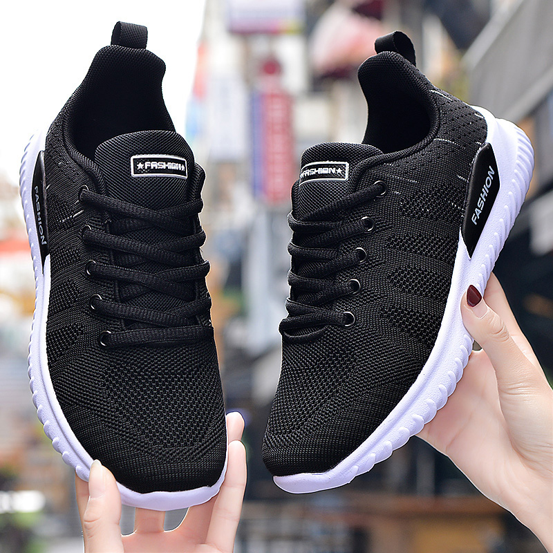 Женская обувь на плоской подошве; Модная повседневная женская прогулочная обувь; Женские дышащие кроссовки на шнуровке; Повседневная Уличная обувь; Размеры 35 41|Кроссовки и кеды|   | АлиЭкспресс