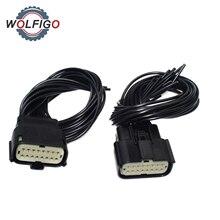 WOLFIGO Scheinwerfer Connector Pigtail Stecker Kabel Draht Für Jeep Grand Cherokee Xenon HID SRT LED 2014 2018 68202814AA