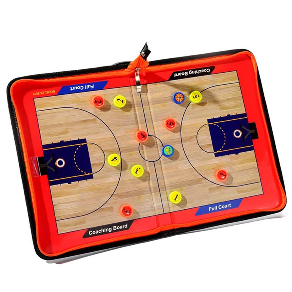 Foldable Coach Basketball Board Tactical Board Portable Tactic Coaching Basketball Competition Game Training Magnet Clipboard