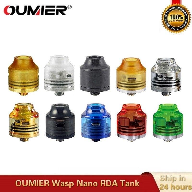 Original OUMIER Wasp Nano RDA 22mm Vape Tank Rebuildable Dripping Atomizer Big Deck Fit 510 Thead Box Mod VS Hellvape Drop Dead