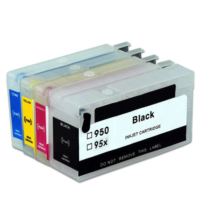 953 953XL HP953 Refillable Ink Cartridge with ARC Chip For <font><b>HP</b></font> OfficeJet Pro 7720 <font><b>7740</b></font> 8210 8710 8715 8718 8720 8725 Printer image